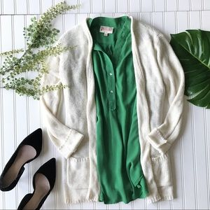 Tops - Green tunic top 3/4 roll up long sleeve pocket